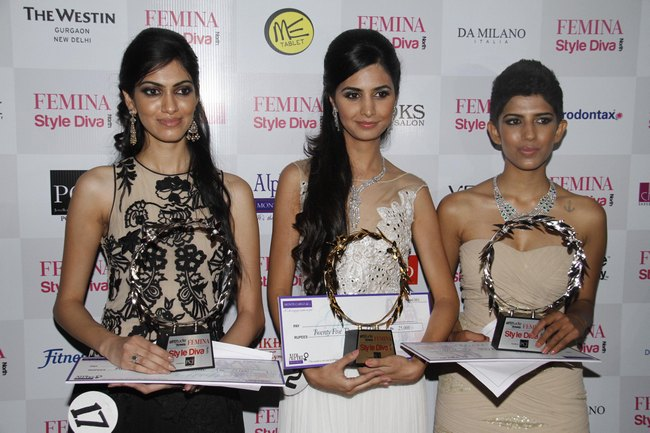 The grand finale of 'Femina Style Diva' was being held recently at Westin Hotel, Gurgaon. Manveen Singh won the title, whereas Aditi Bhalotra and Amarjeet Kaur were declared runner-ups.