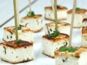 Grilled Tofu Skewers Marinated with Basil