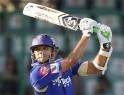 Rajasthan Royals' Rahul Dravid plays a shot.