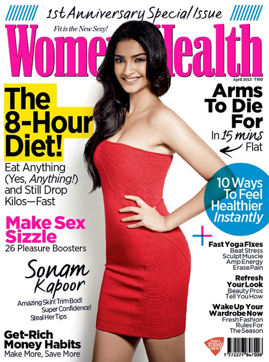 Sonam Kapoor on Women's Health India