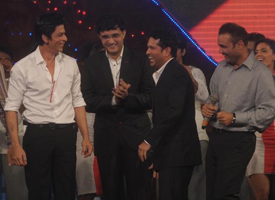Shah Rukh Khan, Sourav Ganguly, Sachin Tendulkar, Virender Sehwag