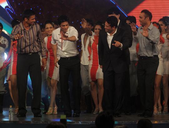 Rahul Dravid, Shah Rukh Khan, Sachin Tendulkar, Virender Sehwag