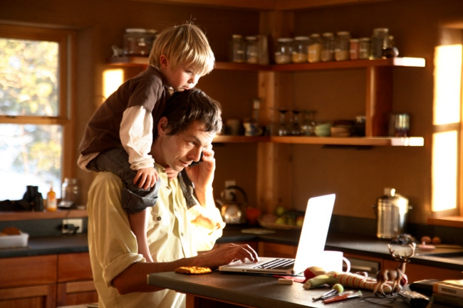 Working even from home: Being preoccupied with work, when not present in the office.