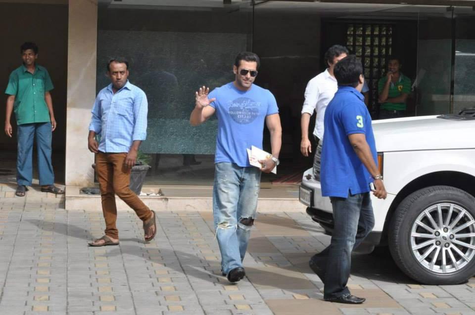Salman Khan waves to the cameras