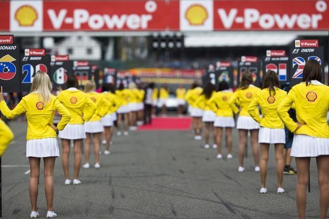 Grid girls At Belgian Grand Prix