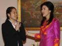 Yingluck Shinawatra and Ratchanok Intanon