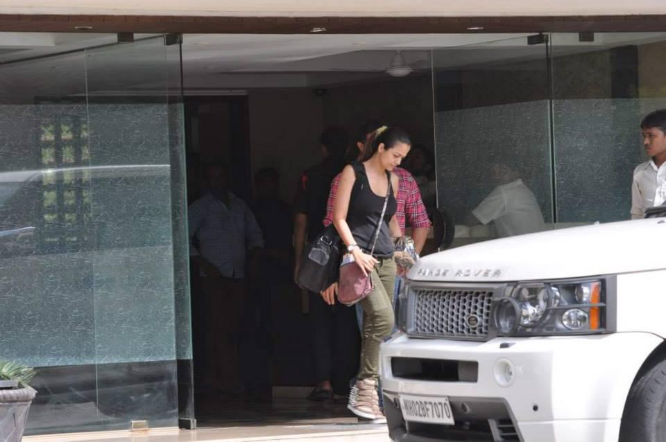 Malaika Arora Khan's siter Amrita Arora was also spotted