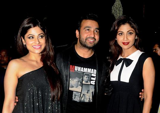 Shamita, Raj Kundra and Shilpa