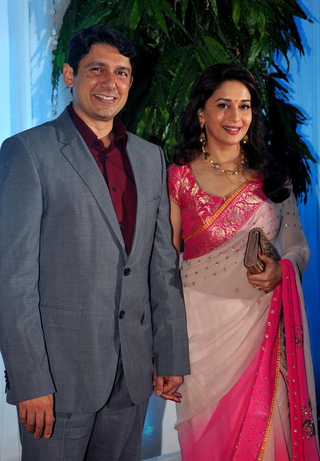Madhuri Dixit and husband Sriram Nene