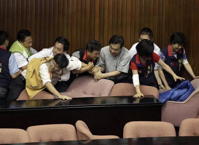 Brawling politicians