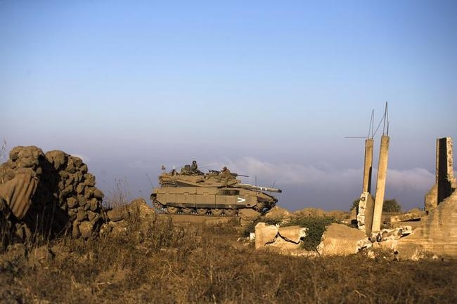 Israeli Military Drill in Golan Heights