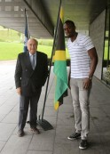 Usain Bolt and Sepp Blatter