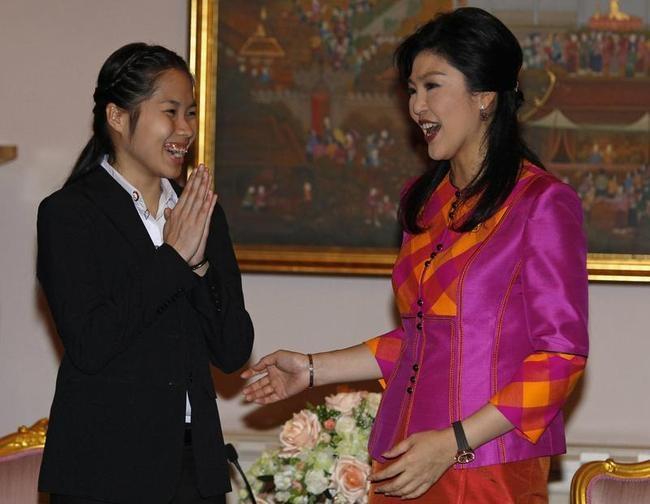 Ratchanok Intanon with Yingluck Shinawatra
