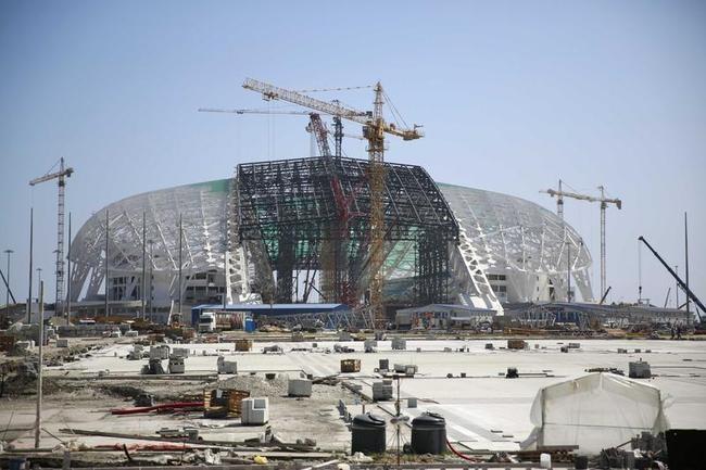 Fisht Olympic Stadium under construction