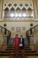 Ratchanok Intanon and Yingluck Shinawatra