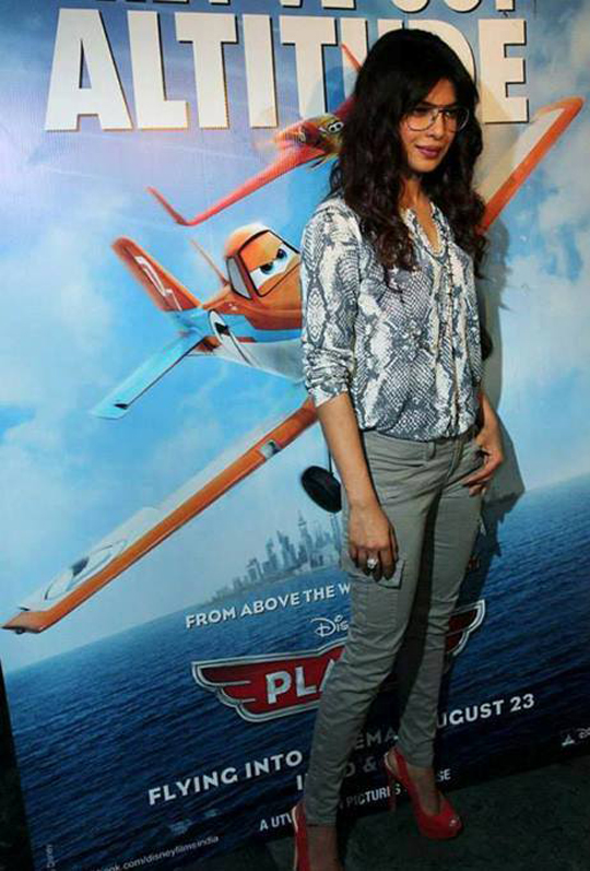 Priyanka Chopra at the screening of the Hollywood animated film, Planes.  Courtesy: UTV
