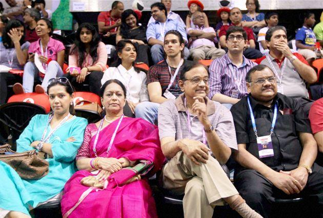 Chidambaram and Nalini Chidambaram