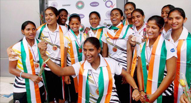 Indian Hockey Girls Return Home