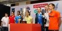 Parupalli Kashyap, Saina Nehwal, Ashwini Ponappa, P. V. Sindhu, Jwala Gutta, Marc Zwiebler, Carston Margensen and Mathias Boe