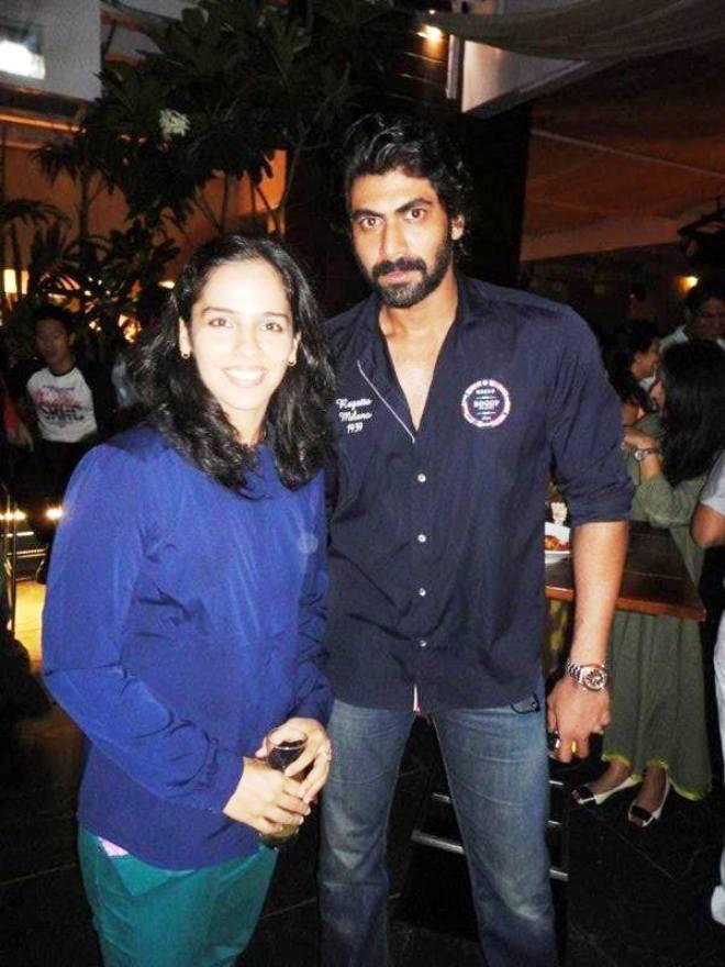 Saina Nehwal with Rana Daggubati