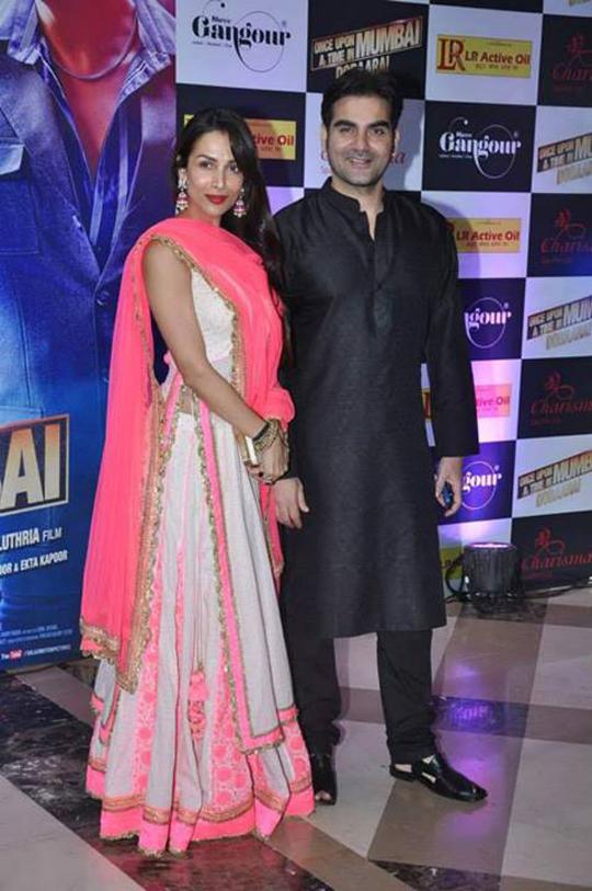Malaika Arora Khan with husband Arbaaz at Ekta Kapoor