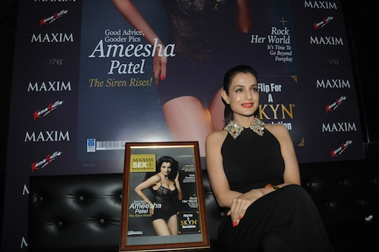 Ameesha Patel turns on the heat for a new magazine cover in a shoot by Dabboo Ratnani. The cover was launched at a bash in Mumbai