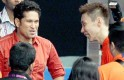 Lee Chong Wei  with Tendulkar