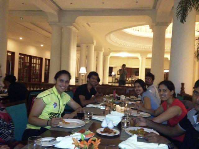 Saina Nehwal with Ajay Jayaram