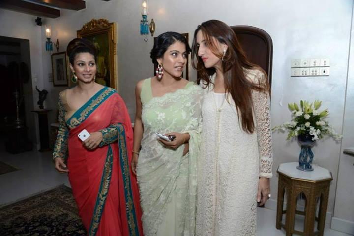 Tanisha, Kajol, Farah at Zarine Khan