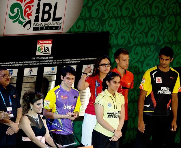 Parupalli Kashyap, Jwala Gutta, Saina Nehwal, Mark Zweibler, Anup Sridhar