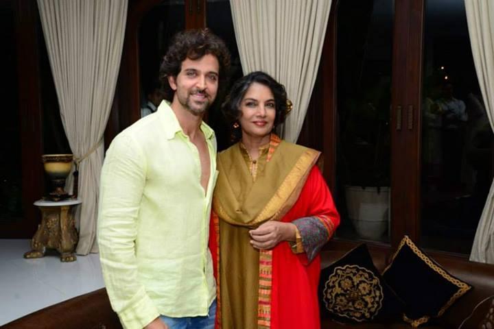 Hrithik Roshan, Shabana Azmi at Zarine Khan