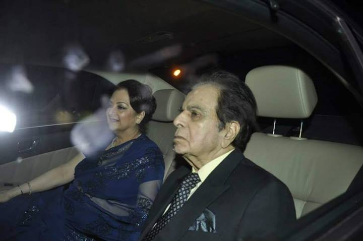 Dilip Kumar and wife Saira Banu