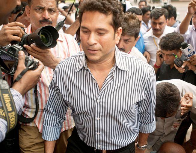 Sachin Tendulkar at Parliament