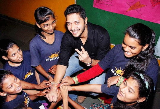 Bollywood stars took a break from their busy schedules to celebrate the festival of Rakshabandhan with their fans and family
