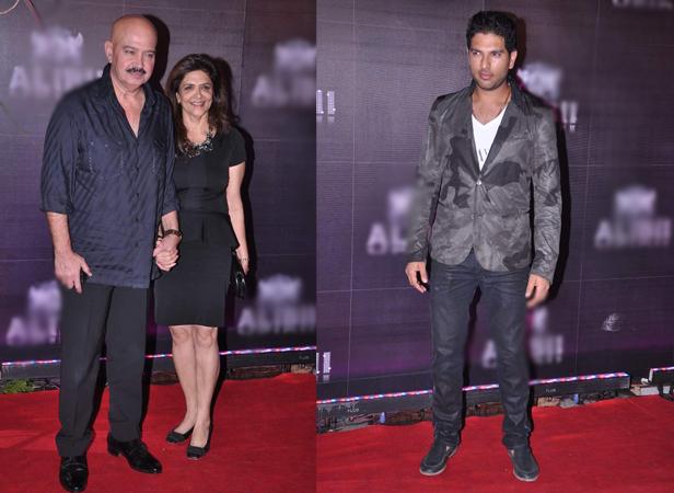 Rakesh Roshan with wife Pinky, Yurvaj Singh
