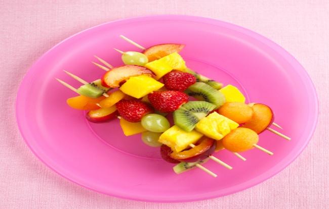 Colourful Fruit Skewers