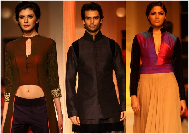 Designer Manish Malhotra opened the Lakmé Fashion Week Winter/Festive 2013 season with a spectacular festive/pre-bridal collection. Here are the pictures of the collection...