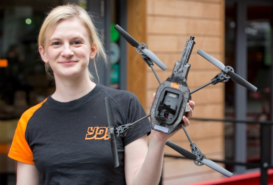 Flying Drones Replace Waiters