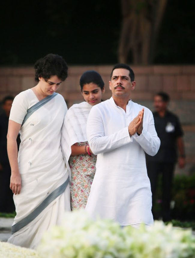 Priyanka Vadra, Miraya Vadra, Robert Vadra