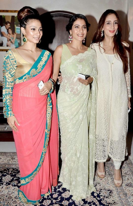 Tanisha, Kajol, Farah Ali Khan