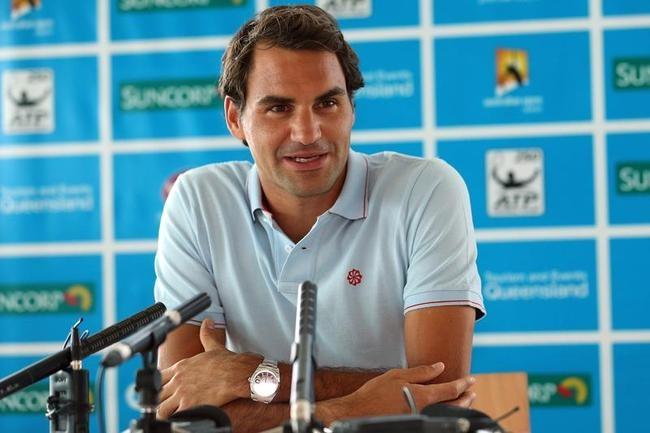 Roger Federer Arrives in Australia