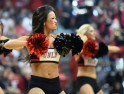 Members of the UNLV Rebels dance team perform during UNLV