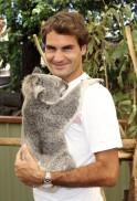 Roger Federer With a Koala Bear
