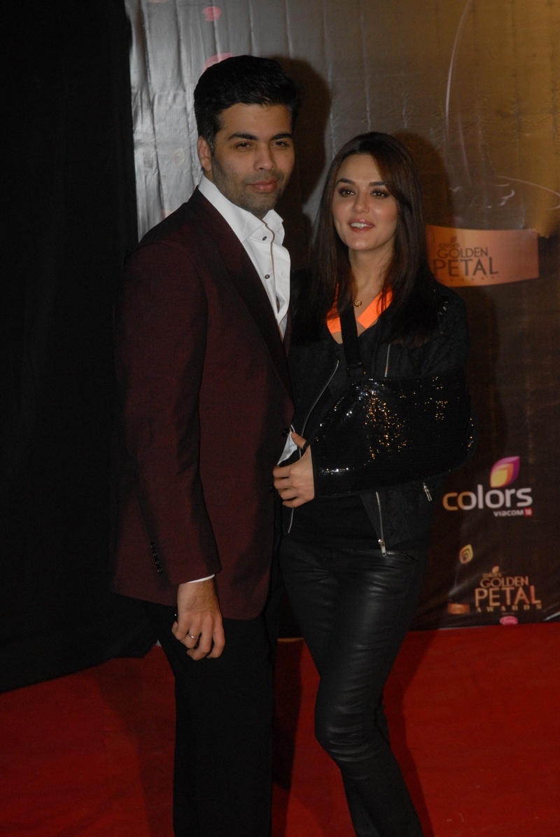 Karan Johar and Preity Zinta