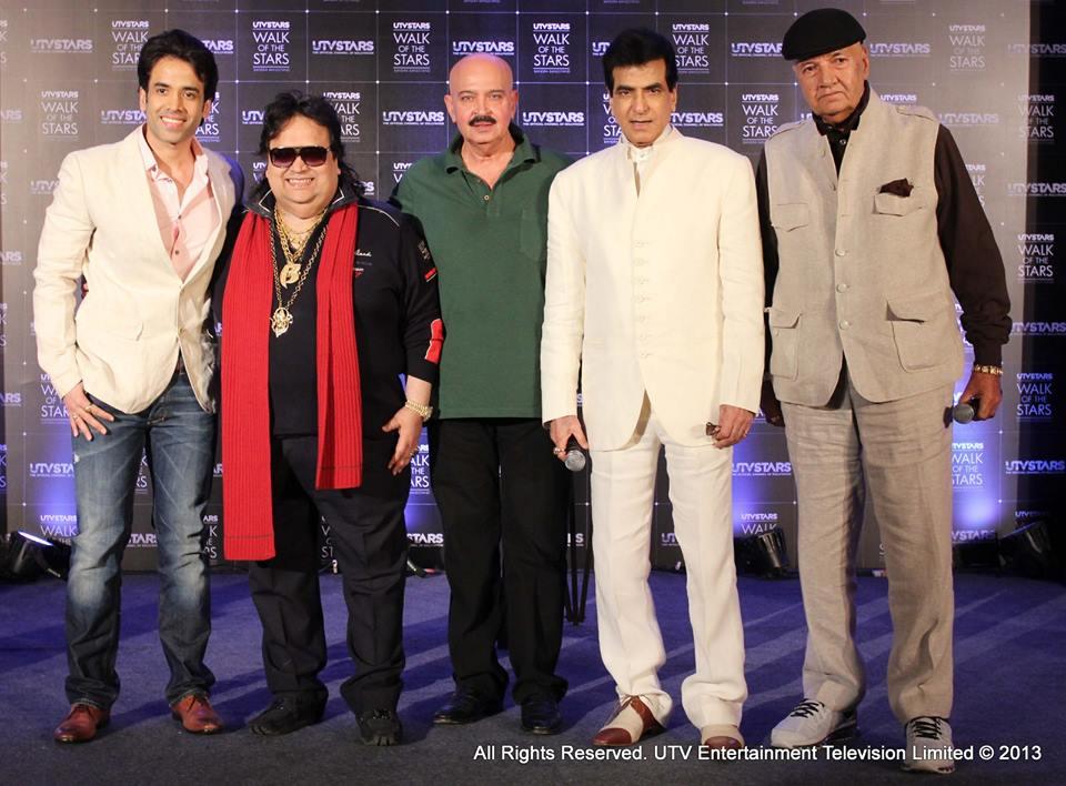 Jeetendra, Tusshar, Bappi Lahiri, Rakesh Roshan, Prem Chopra