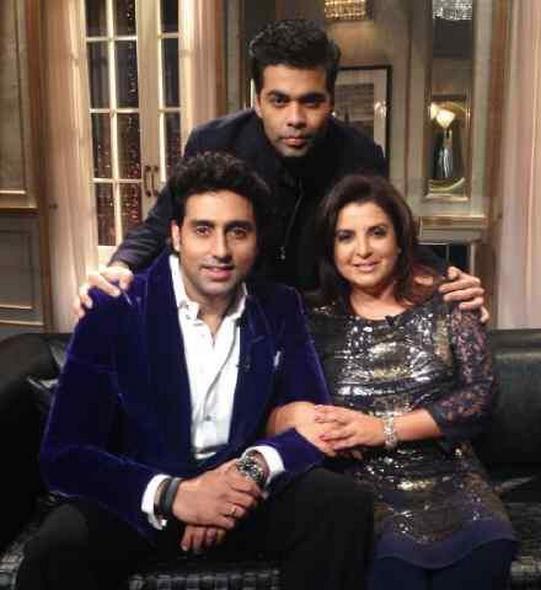 Farah Khan and Abhishek Bachchan on Koffee With Karan