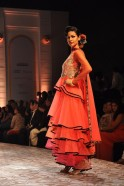 Opening the show with the most stunning Red Carpet gowns, the designing duo set the mood for a superb line of bridal creations that would please the western as well as the ethnic bride.