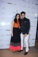 Genelia and Ritiesh Deshmukh seen at Shantanu and Nikhils show