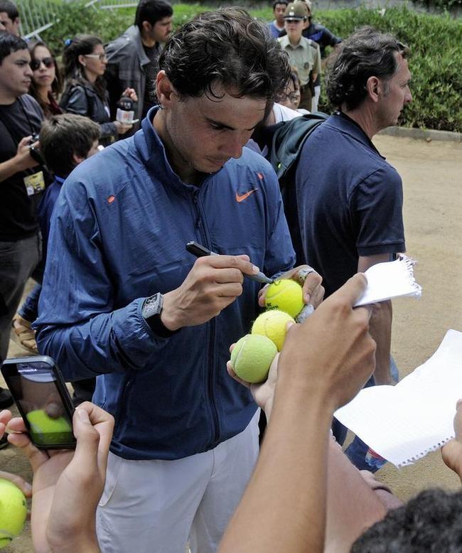 Rafael Nadal in Back