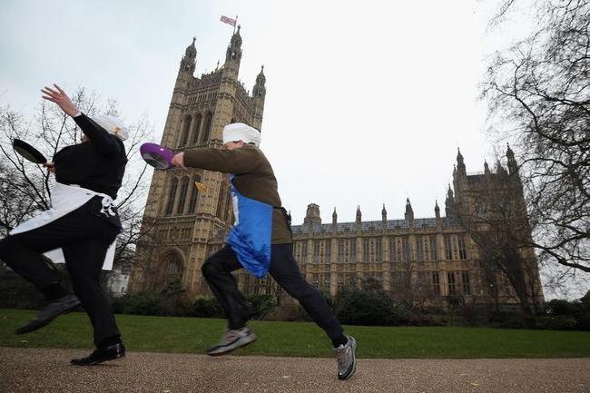 Wacky Parliamentary Pancake Race